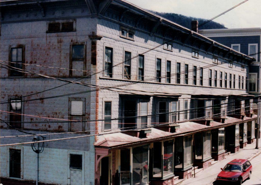 The Exner Block, pre-renovation, 1999