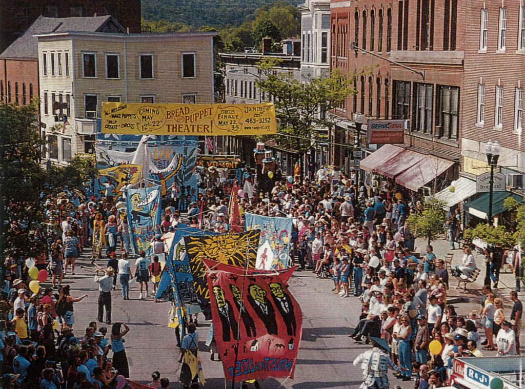 Bread and Puppet Theater, Village Square, Bellows Falls, VT 1999