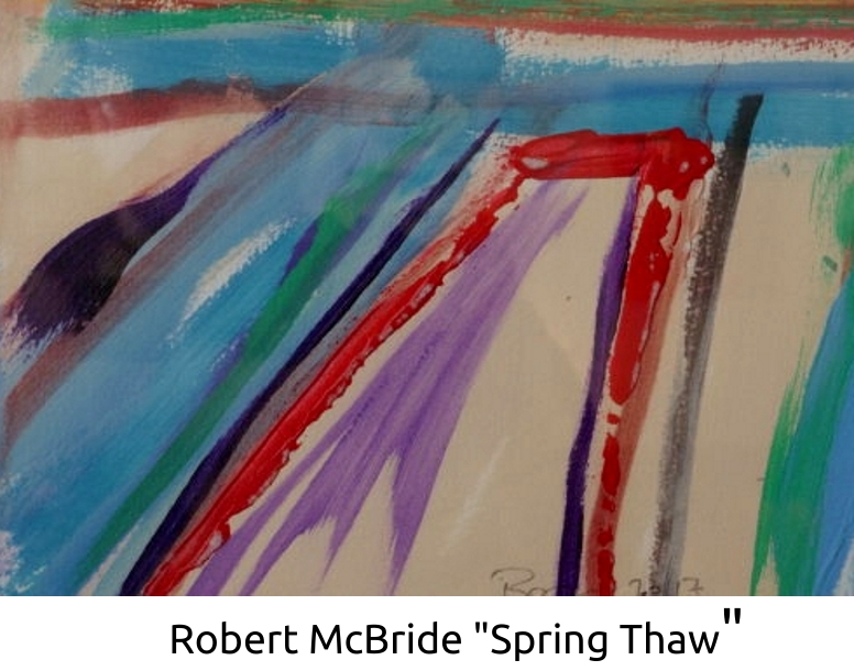 Painting by Robert McBride called Spring Thaw