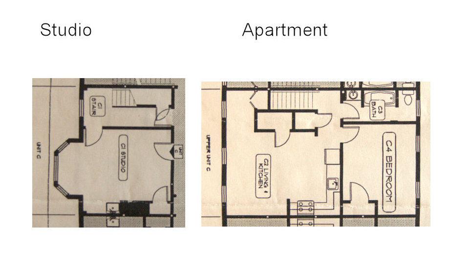 Exner Block, floor plan for Unit C