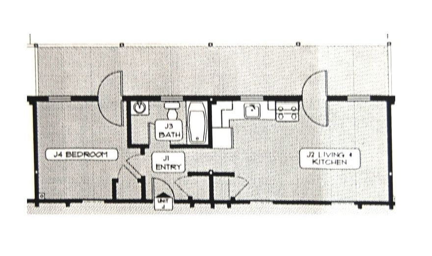 Exner Block, Unit J floor plan